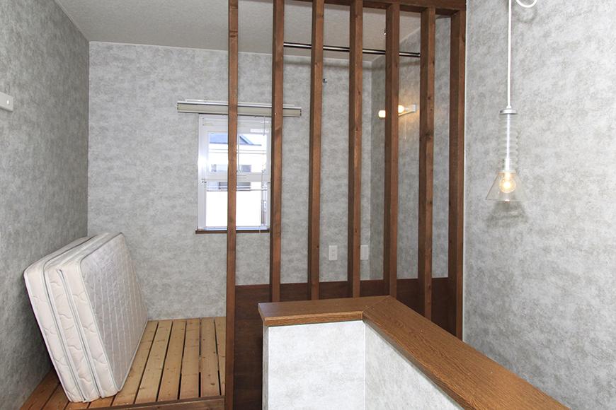 洋室の反対側にある寝室スペースです。