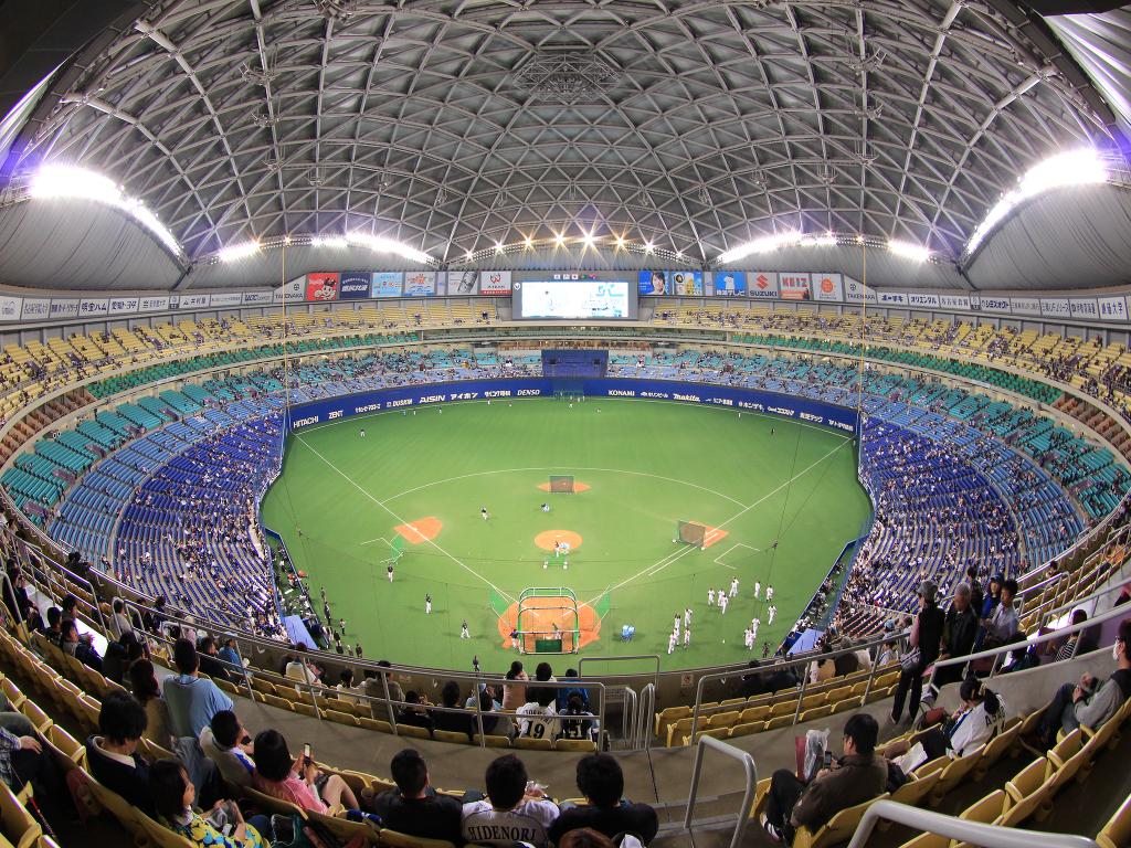 名古屋ドームで野球観戦