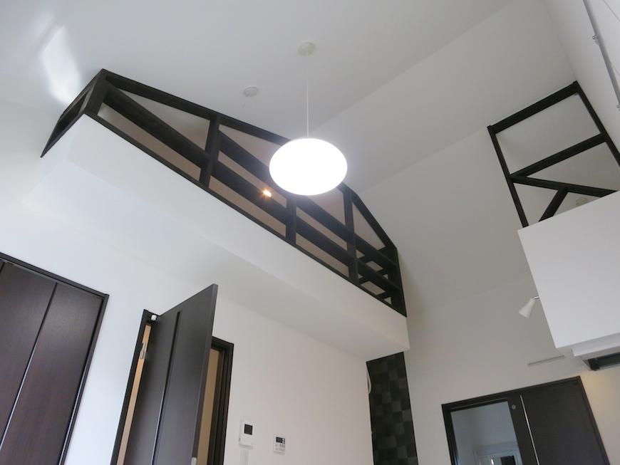 天井がとても高いので、ノビノビと暮らせます。