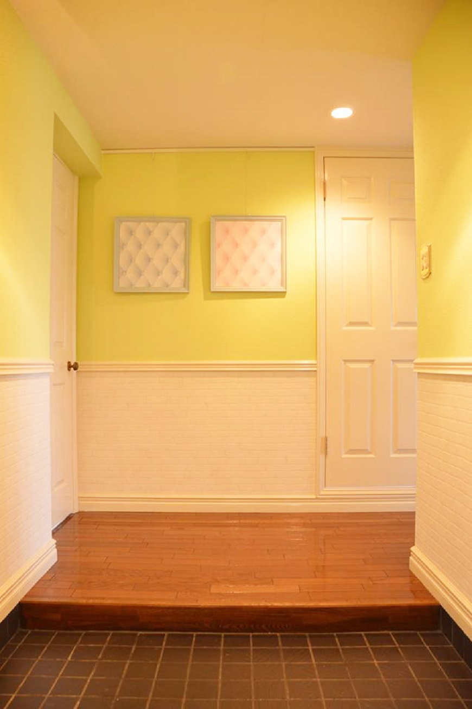 301号室の玄関。ノッティングヒルのイメージです。