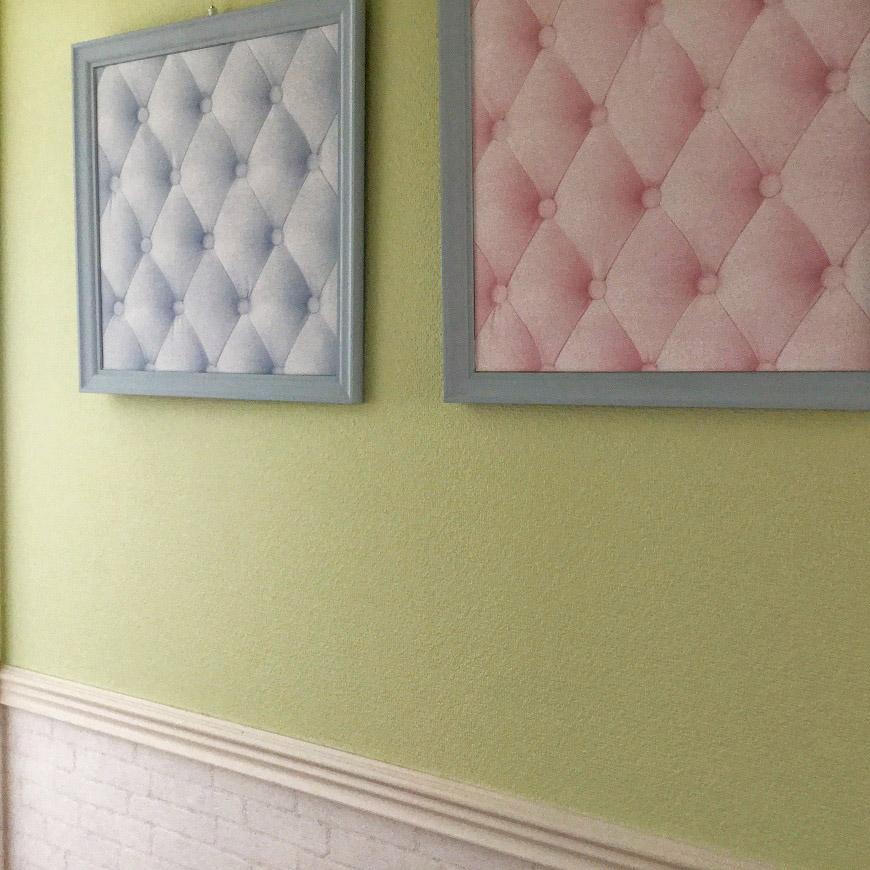 英国デザイナーズ調合の塗り壁。上品でやわらかい色合いです。