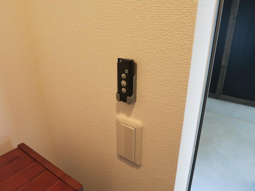 電動シャッターのリモコンです。