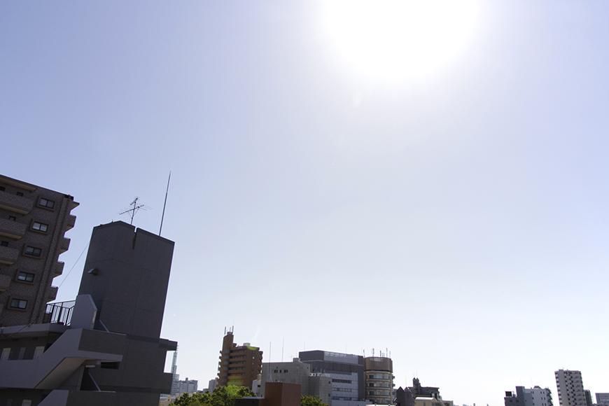 ベランダからの眺め。近くに高い建物はありません_MG_8791