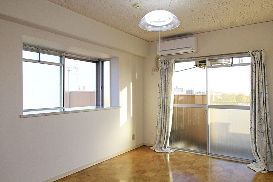 二面採光の明るい洋室(6帖)。エアコン完備!_MG_9820