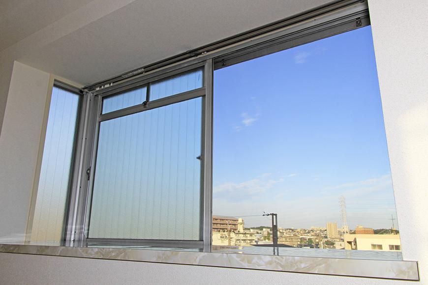 窓からの眺めです。付近に高い建物がなく、空が広くて気持ち良い♪_MG_9827