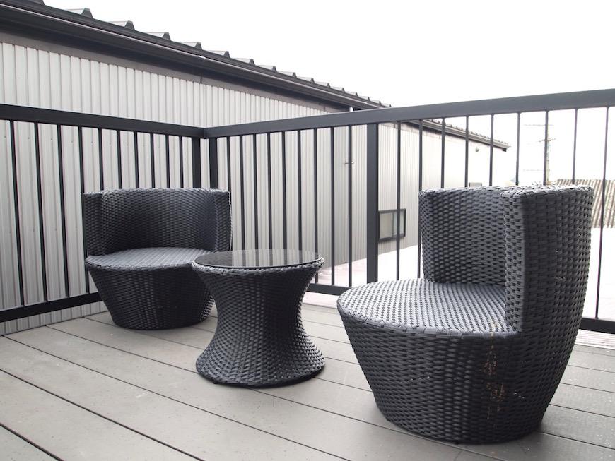 オトナな雰囲気のテラス席