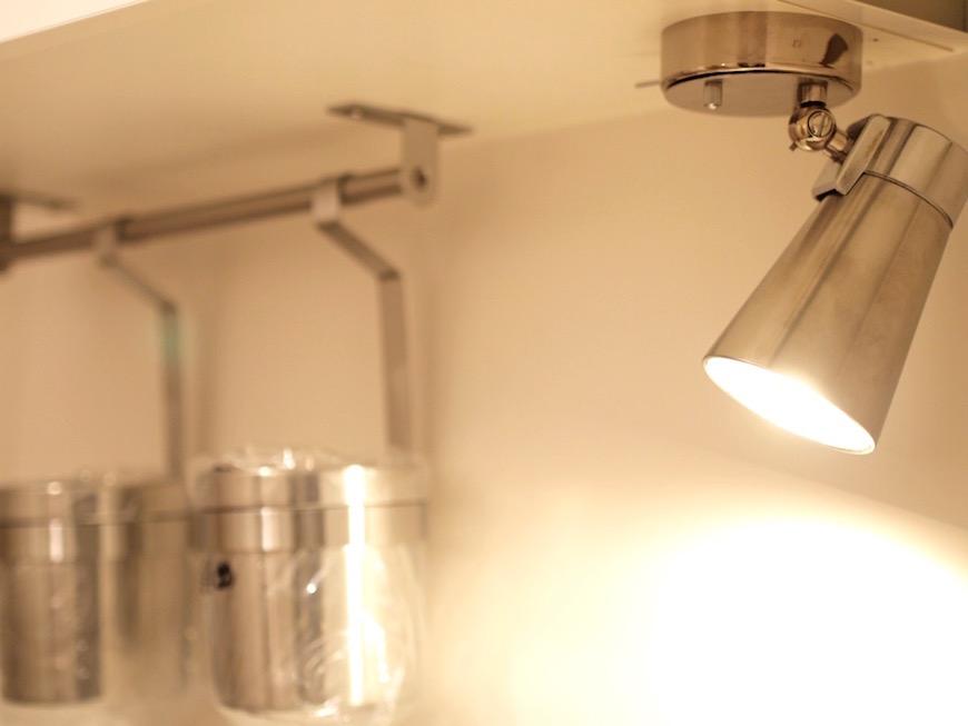 キッチンのスポットライト