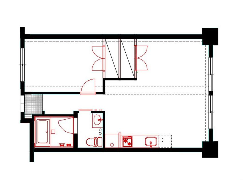 TOMOS中村区役所(マンション中村)601号室の間取り図です_中村マンション601