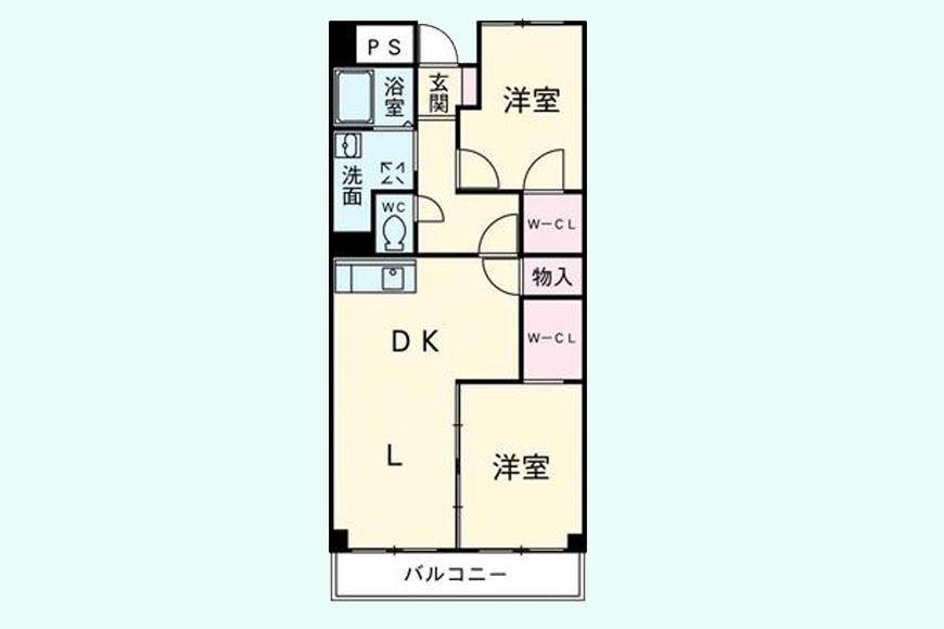 八事パークマンション(604号室)間取り図