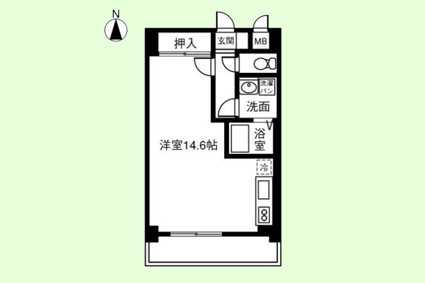 【203号室】URBANEO清洲_203号室_間取り図