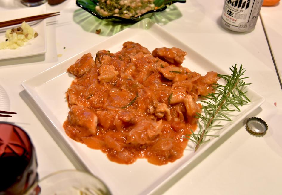 スペイン料理ではなくイタリアンなのですが、武田定番のチキンのカチャトーラ_DSC_7974