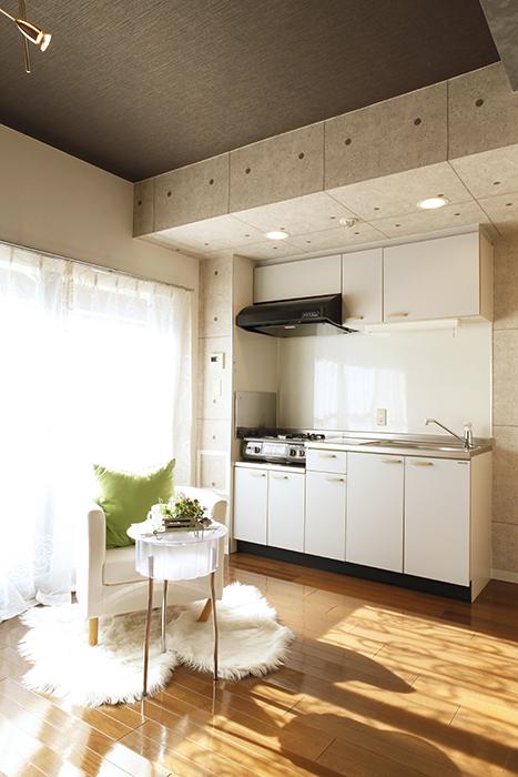 【102号室】立体的な梁、シックな天井_MG_0141