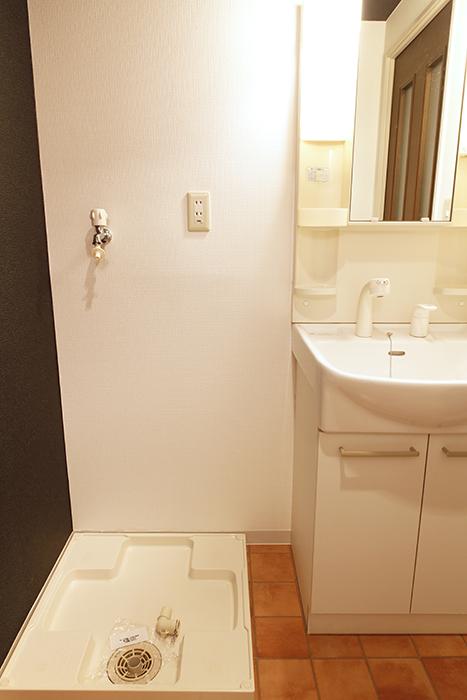 【102号室】洗面台の隣に室内洗濯機置き場です_MG_0211