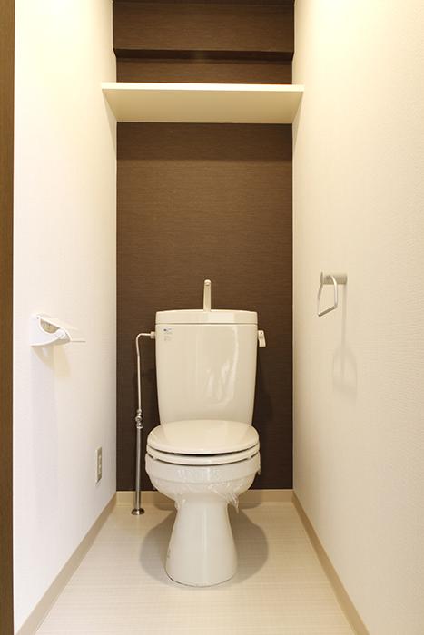 【203号室】シックな印象のシンプルなトイレです_MG_0311