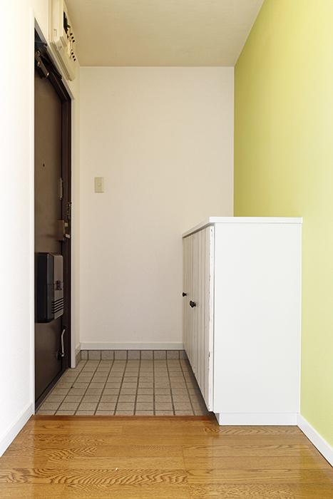 玄関周りです。とっても柔らかい空間・・・  目に優しいグリーンが迎え入れてくれます☆_MG_8767