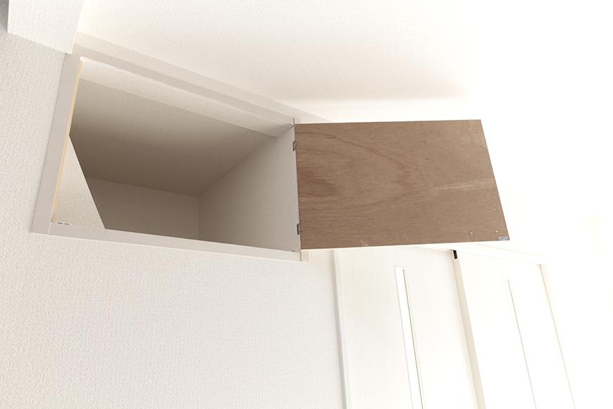 LDKの壁、頭上にちょっとした押入れ収納あります_MG_3427