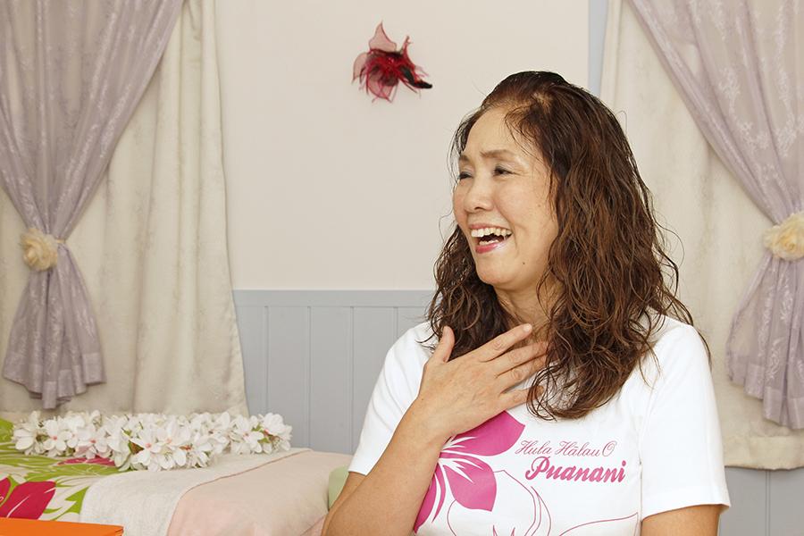 プリマを選んだのは、女性が素敵と思う造りで、お姫様になったような気分になれるからと語る大屋洋子さん_MG_9432