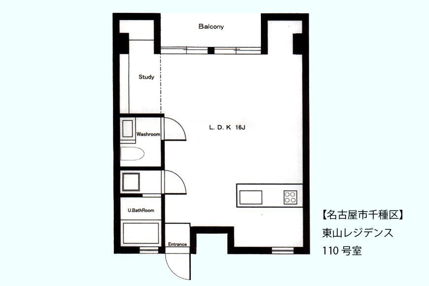 東山レジデンス(110号室)間取図