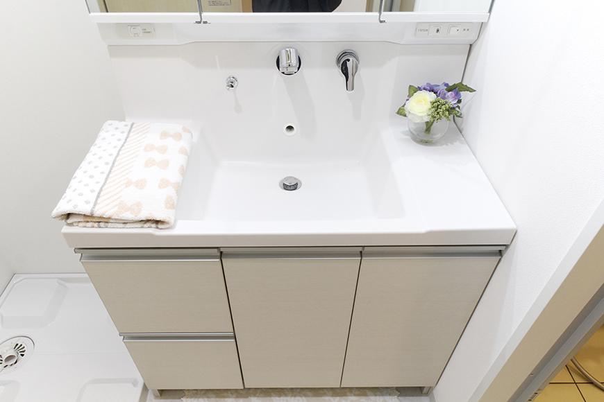 ピッカピカ☆の独立洗面台と室内洗濯機置き場_MG_5000