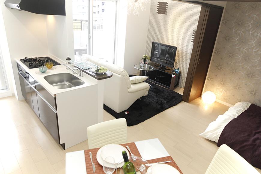 【Bタイプ:302号室】シンプル・スタイリッシュなニューヨークスタイルのお部屋_MG_5253