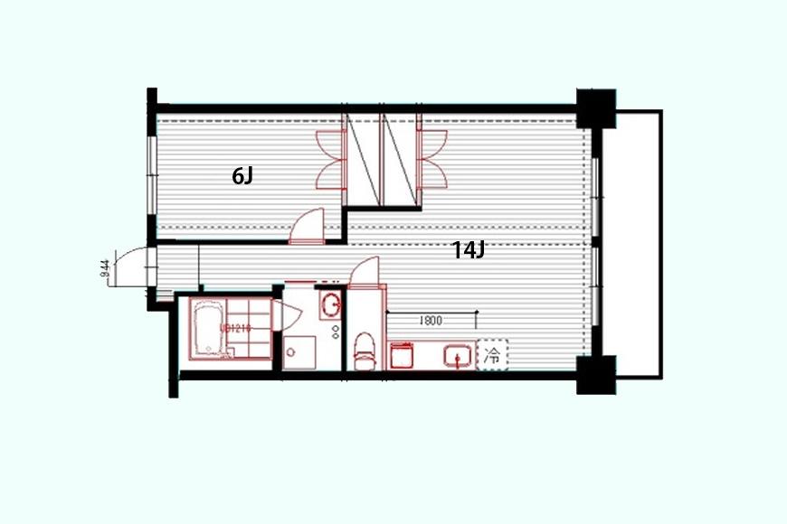 マンション中村_401号室_間取り図です