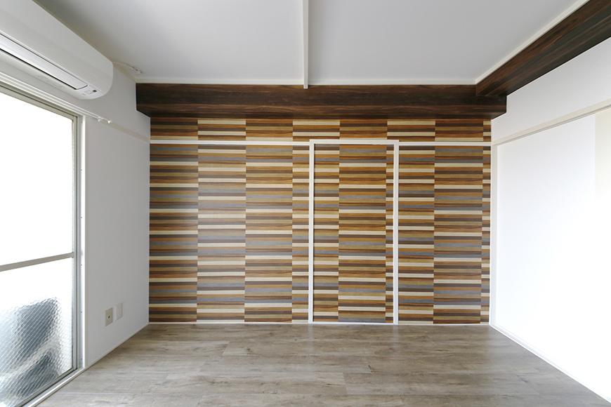 壁紙と床の素材感がマッチ!