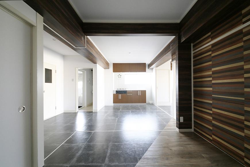 立体的なデザインのこの部屋はもうアートですね!