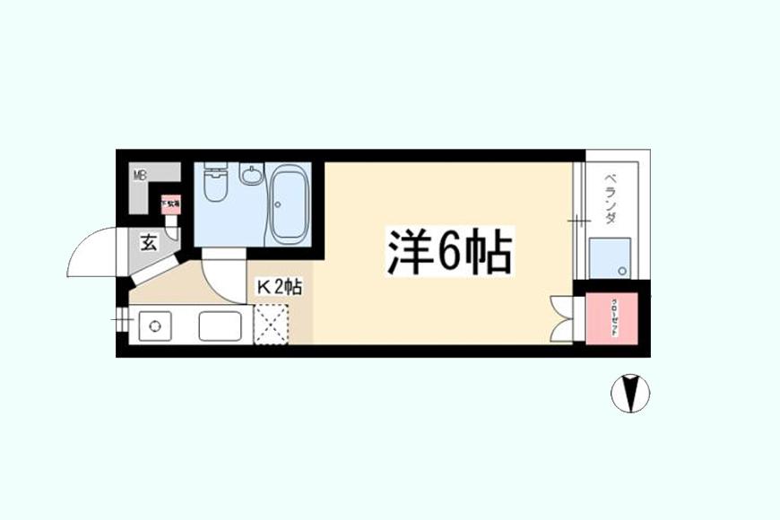 東山レジデンス(407号室)間取図