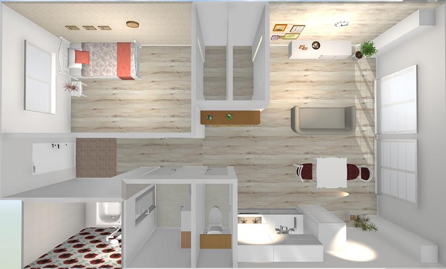 マンション中村の401号室がこの度、シャビーシックのリノベーション完了!(イメージ図)