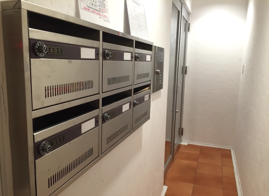 アテコパリジェンヌ_共有廊下・階段_1ポスト_123