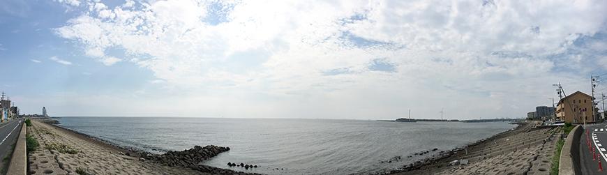 パノラマにするとこんな感じ!  空も海も皆さまをお待ちしております♪_IMG_0420