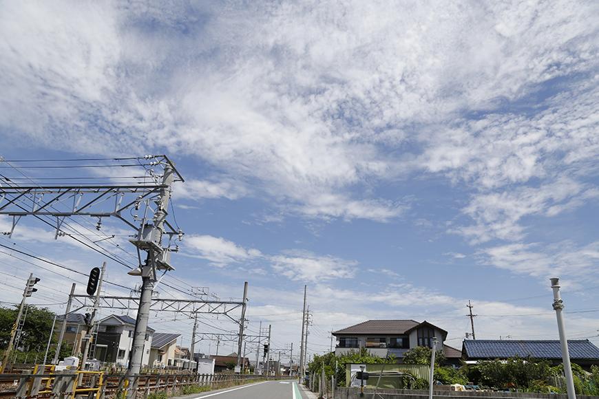 駅から出ると、青空が頭上に広がります!_MG_2617