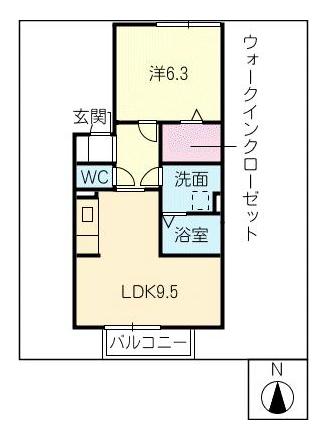 サンパティーク_間取図_1階
