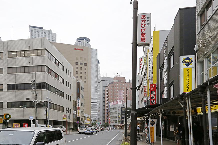 ブラブラぶらぶらと歩いて、、、ビックカメラなど名古屋駅周辺のビル群が見えます_MG_1120
