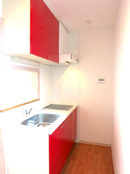 可愛くてエレガントな赤いキッチン_IMG_6676
