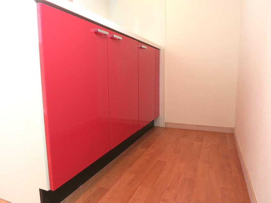 赤くて可愛いキッチン_6680