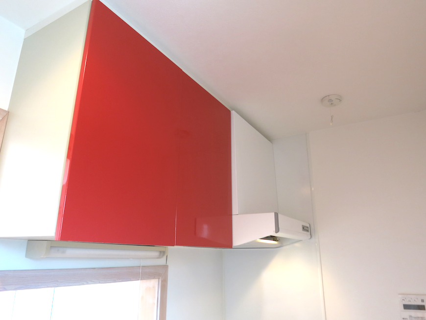 赤くて可愛いキッチン_6681
