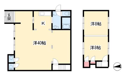呼明家スタジオ TASHIRO 1959_間取図