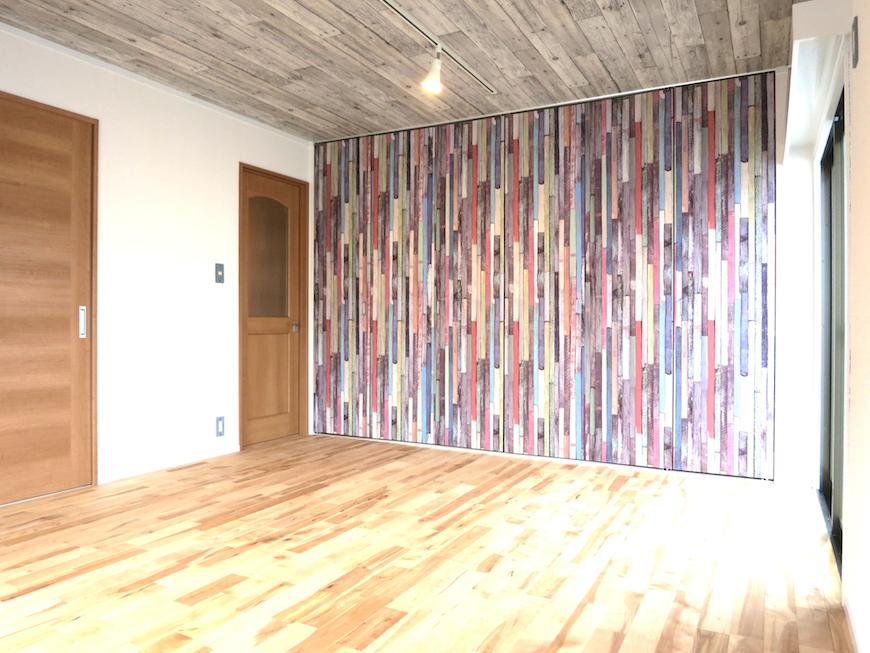 ノリタケの家・リノベ・アクセントクロス・壁画のようにかっこいい_6960