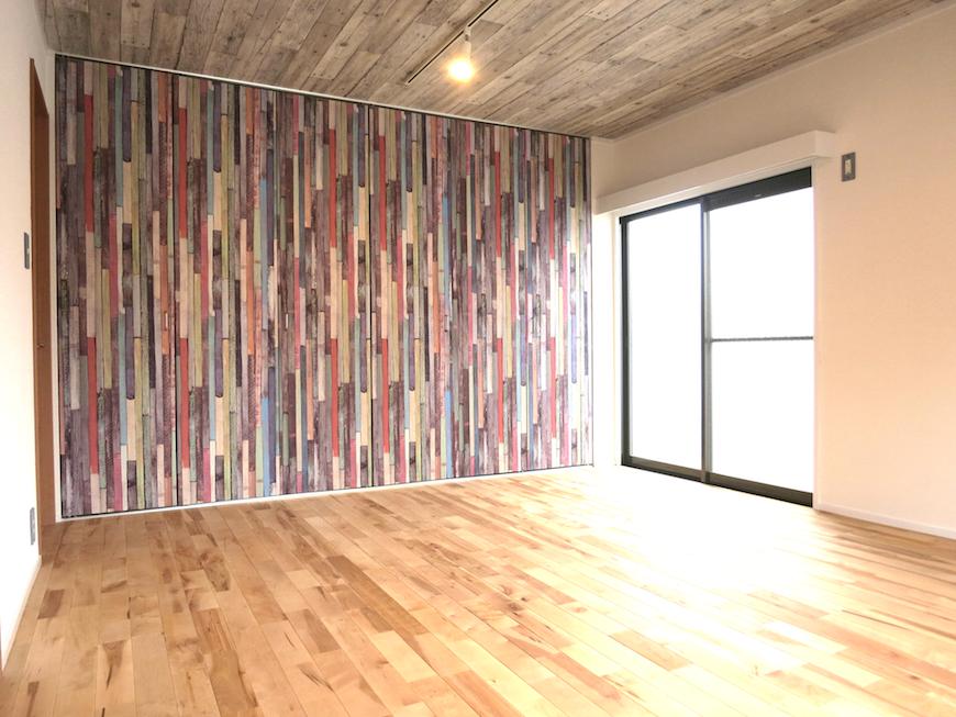 壁画のようにアートな室内の壁面2_6964