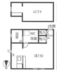 プリアフェニーチェ壱番館間取図_103・203号室