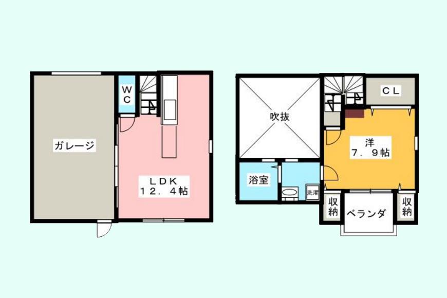 GハウスミタカIII_C号室_間取り図