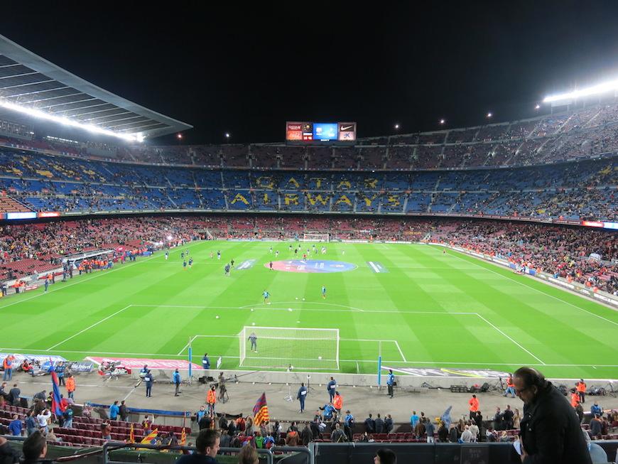▲FCバルセロナのホームスタジアム『カンプ・ノウ』 ※2014年のスペインの旅にて撮影_IMG_3118