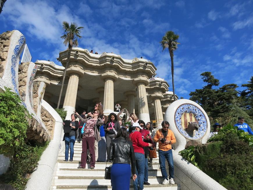 今では観光客が訪れるグエル公園(Parc Güell) ※2014年のスペインの旅にて撮影。_IMG_3186