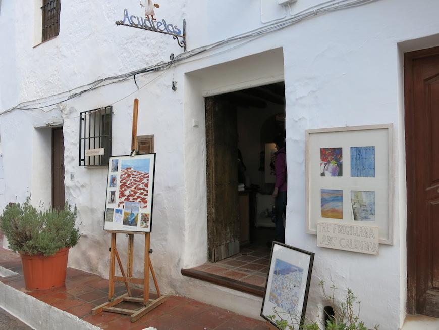 『フリヒリアナ(Frigiliana)』の村で見つけたアートギャラリー。_IMG_4739