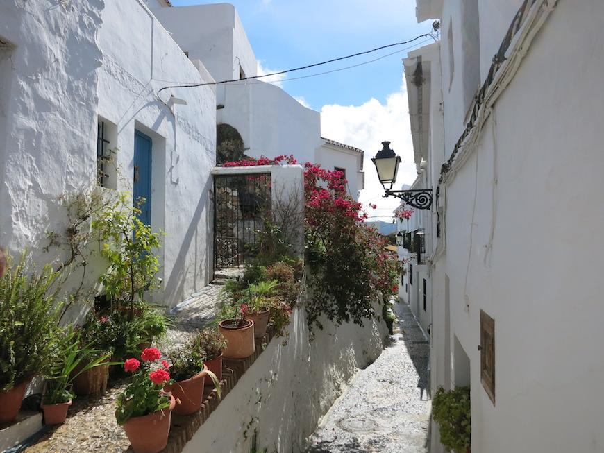 ▲絵ハガキに出てきそうなアンダルシアの白い村『フリヒリアナ(Frigiliana)』 ※2014年のスペインの旅にて撮影。_IMG_4771