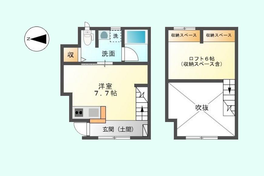 espress(エスプレッソ)木田_間取り図_1D号室