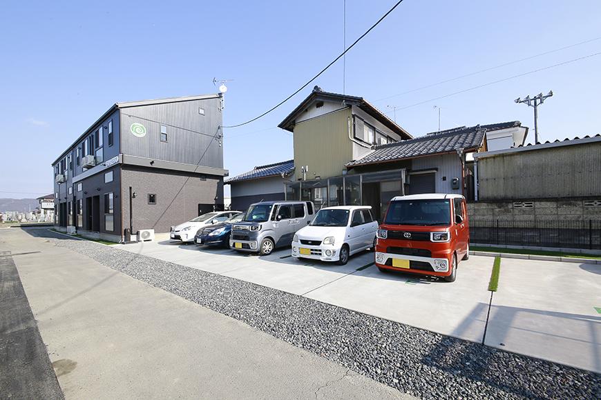 外観からもう、まんまカフェ!のespresso木田の駐車場です_MG_3529