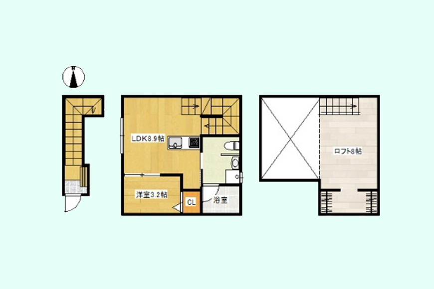 espress(エスプレッソ)木田_間取り図_2D号室
