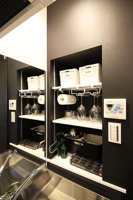 黒を基調としたキッチンの棚周り☆モダンでスタイリッシュ☆_MG_4668